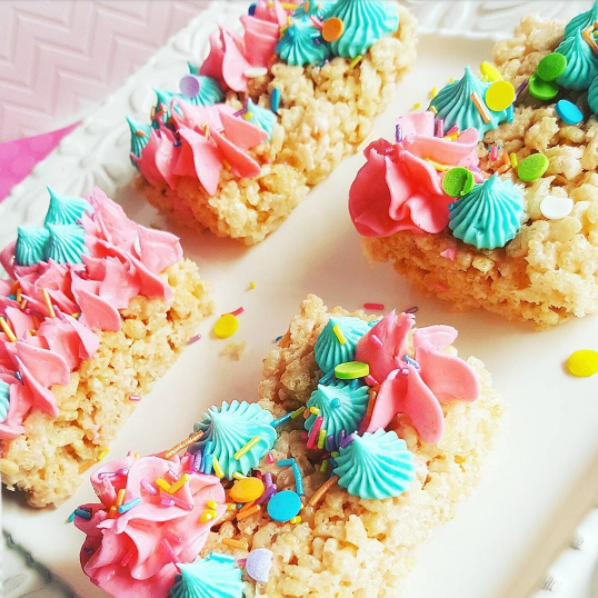 decorated rice krispy treats