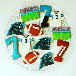 Carolina Panthers birthday cookies