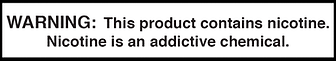 Nicotine-warning