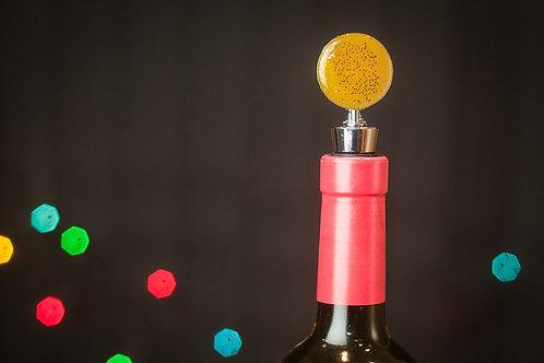 Gold Circular Resin Wine Bottle Stopper