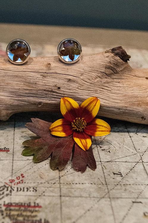 Unique Autumnal Leaf Petal Earrings