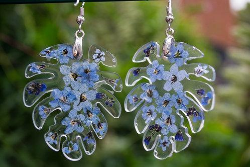 Monstera FMN dangle earrings
