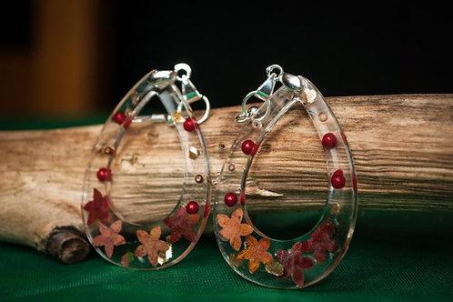 Delicate Teardrop shaped lightweight resin dangle earrings