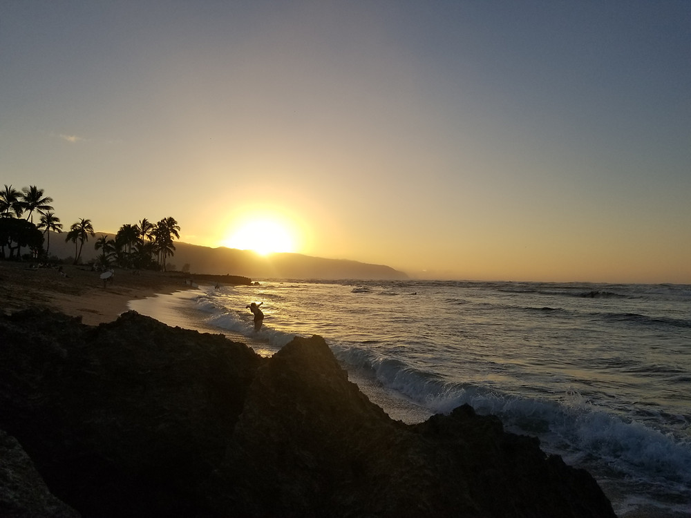Sunset and weather for Honolulu beach at North Shore