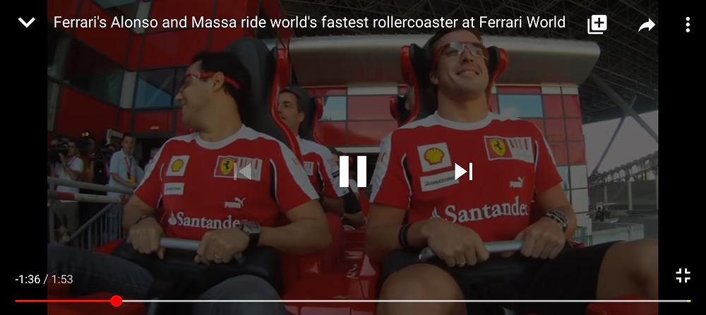 Formula Rossa roller-coaster at Yas Island Abu Dhbai