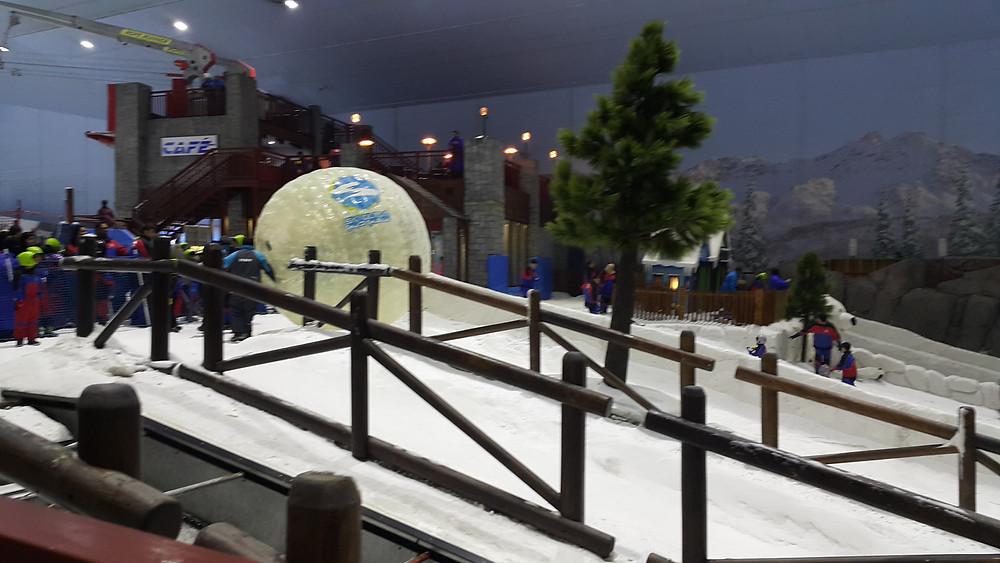 Zorb Ball in Ski Dubai, UAE
