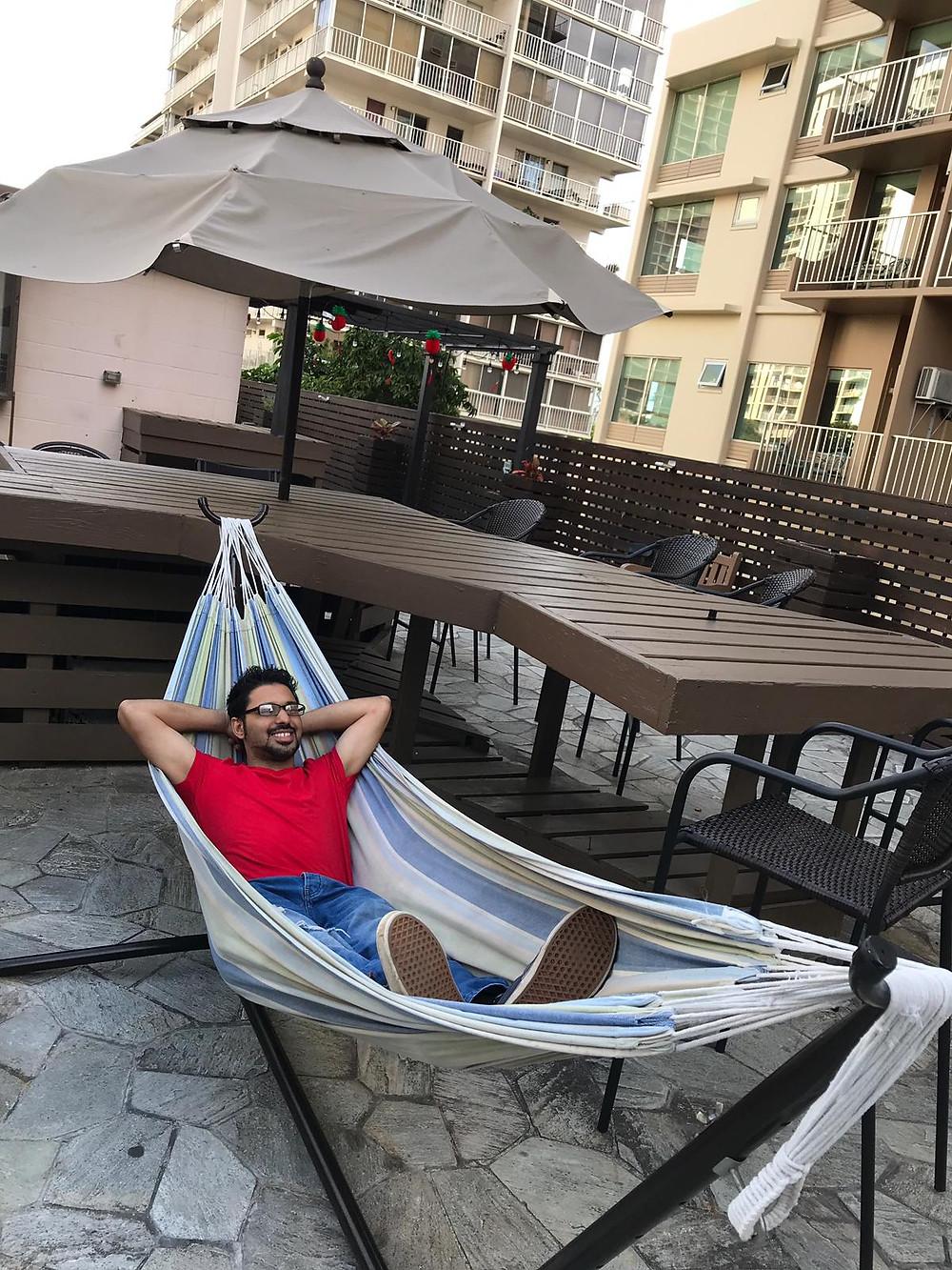 Relaxing on a Hammock Honolulu Hawaii