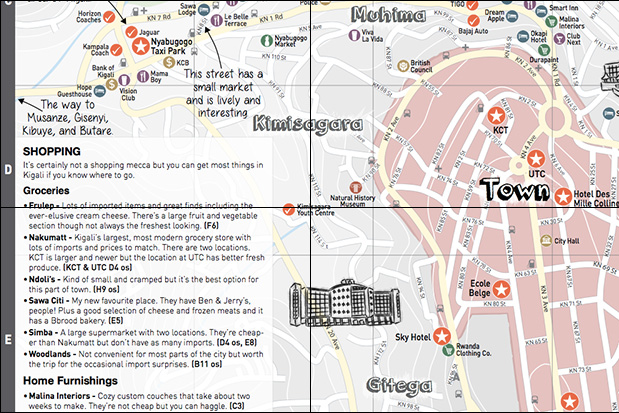 The Map Kigali, the best directional and educational flyer about the city in Rwanda