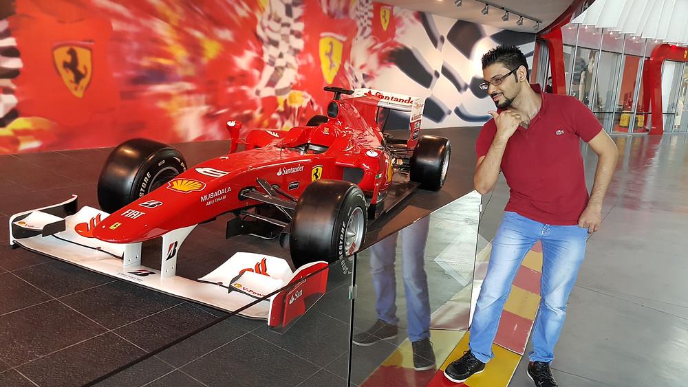 Ferrari display on Yas Island in Abu Dhabi, United Arab Emirates