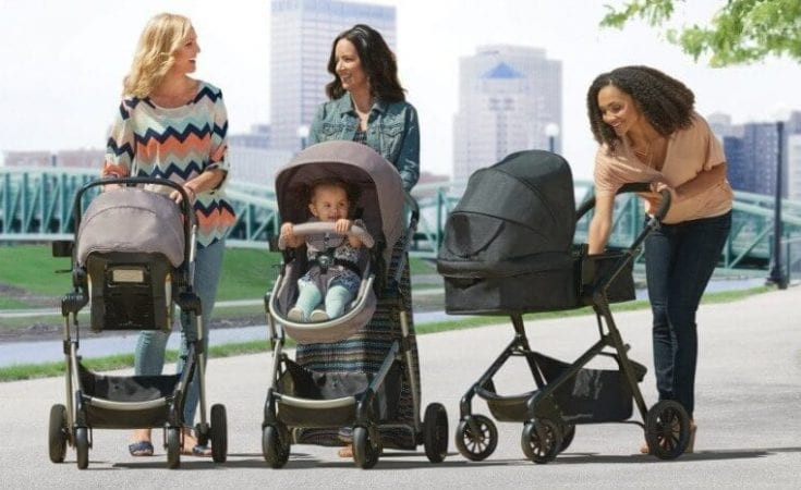 3 moms using Evenflo Pivot Modular Travel System