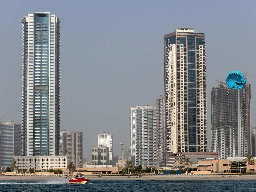 Parasailing in Dubai by the Islands of the world