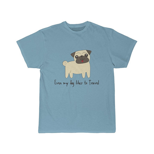 Unisex Short Sleeve Tee For Both Dogs And Travel Lovers