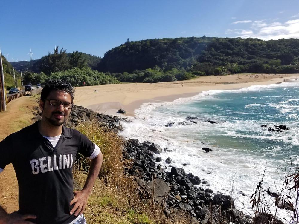 Waimea Bay Beach and nature at Oahu Hawaii