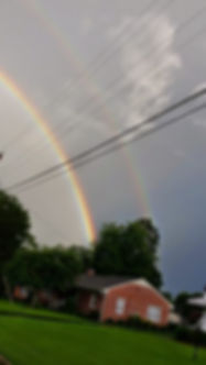 Double rainbow I spotted in my neighborhood a few years ago.