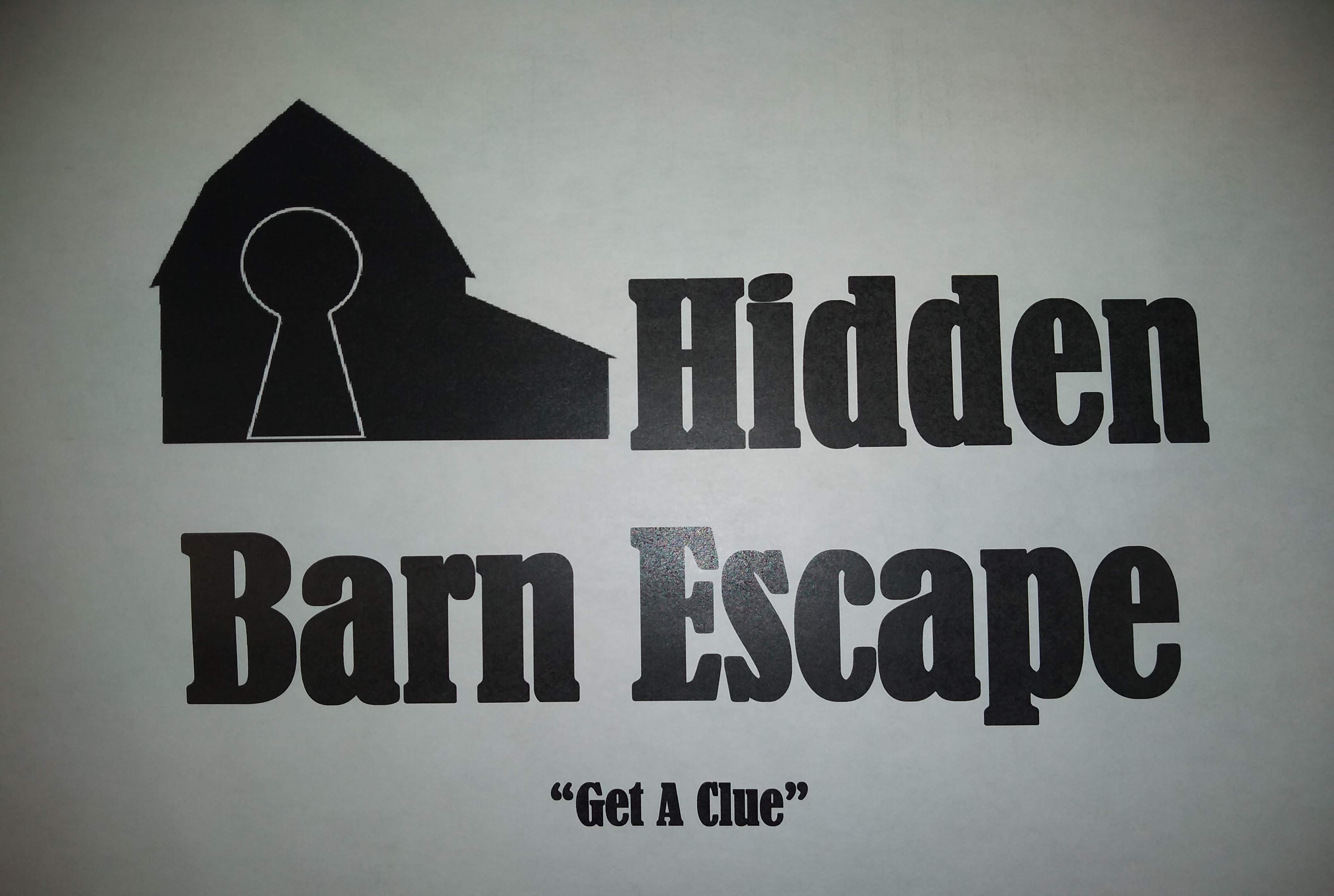 Hidden Barn Escape Gift Certificate