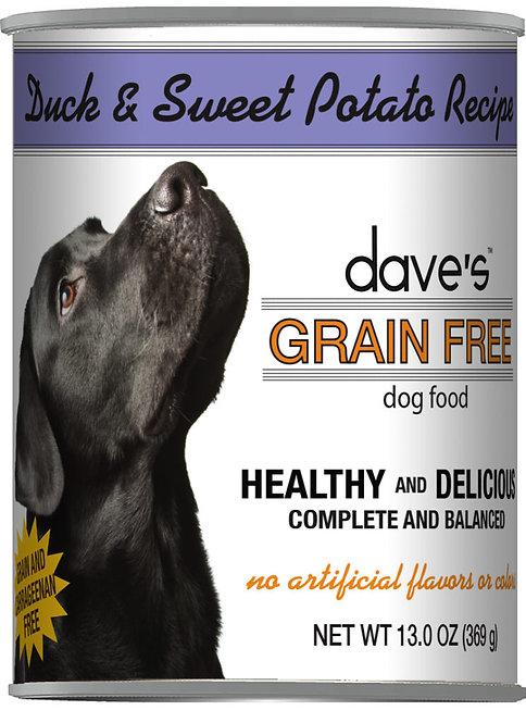 Dave's Grain Free Duck & Sweet Potato Recipe Canned Dog Food