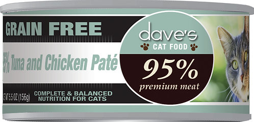 Dave's 95% Premium Meat – Tuna & Chicken Paté Canned Cat Food