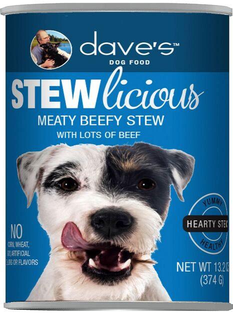 Stewlicious Meaty Beef Stew Canned Dog Food