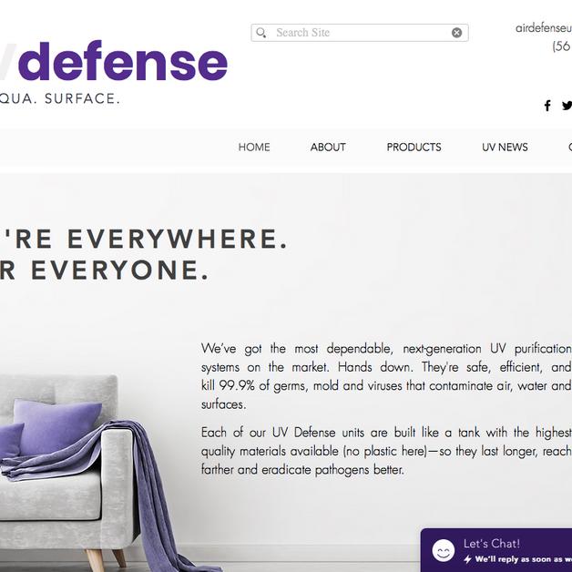 UV Defense / Ultraviolet Light