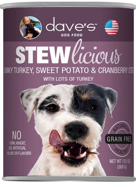 Stewlicious Chunky Turkey, Sweet Potato & Cranberry Stew Canned Dog Food