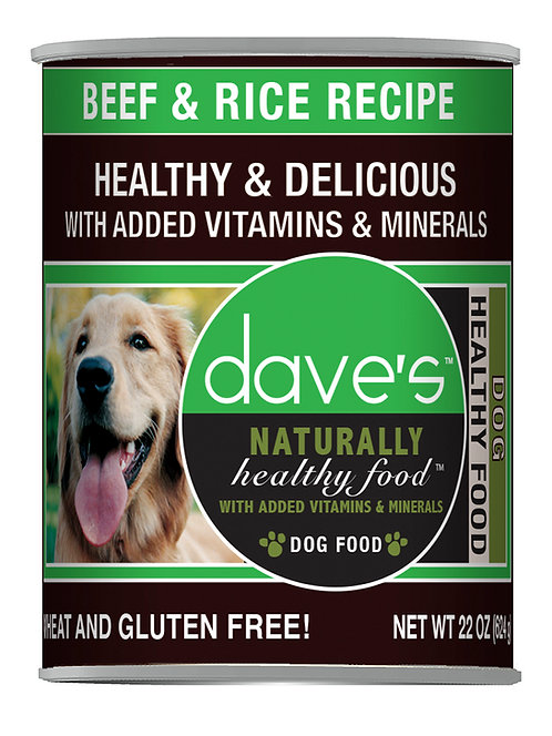 Dave's Naturally Healthy Beef & Rice Canned Dog Food