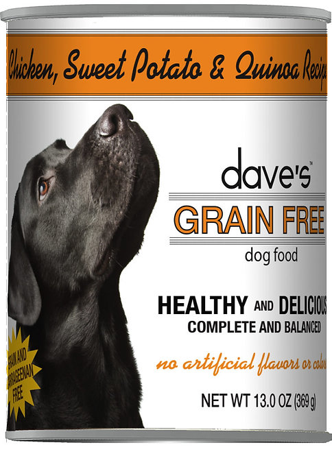 Dave's Grain Free Chicken, Sweet Potato & Quinoa Recipe Canned Dog Food