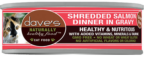 Dave's Naturally Healthy Grain Free Cat Food Shredded Salmon