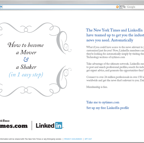 THE NEW YORK TIMES + LINKEDIIN