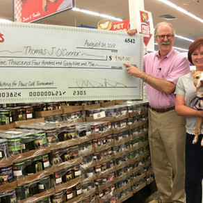 'PUTTING FOR PAWS' GOLF TOURNAMENT RAISES $9,469 TO BENEFIT THOMAS J. O'CONNOR ANIMAL CONTROL AND AD