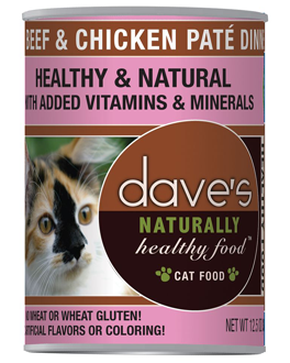 Dave's Naturally Healthy Canned Cat Food Beef & Chicken Paté