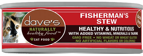 Dave's Naturally Healthy Grain Free Cat Food Shredded Fisherman