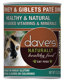 Dave's Naturally Healthy Canned Cat Food Turkey & Giblets Paté