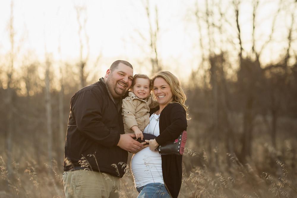 Smiling family portrait