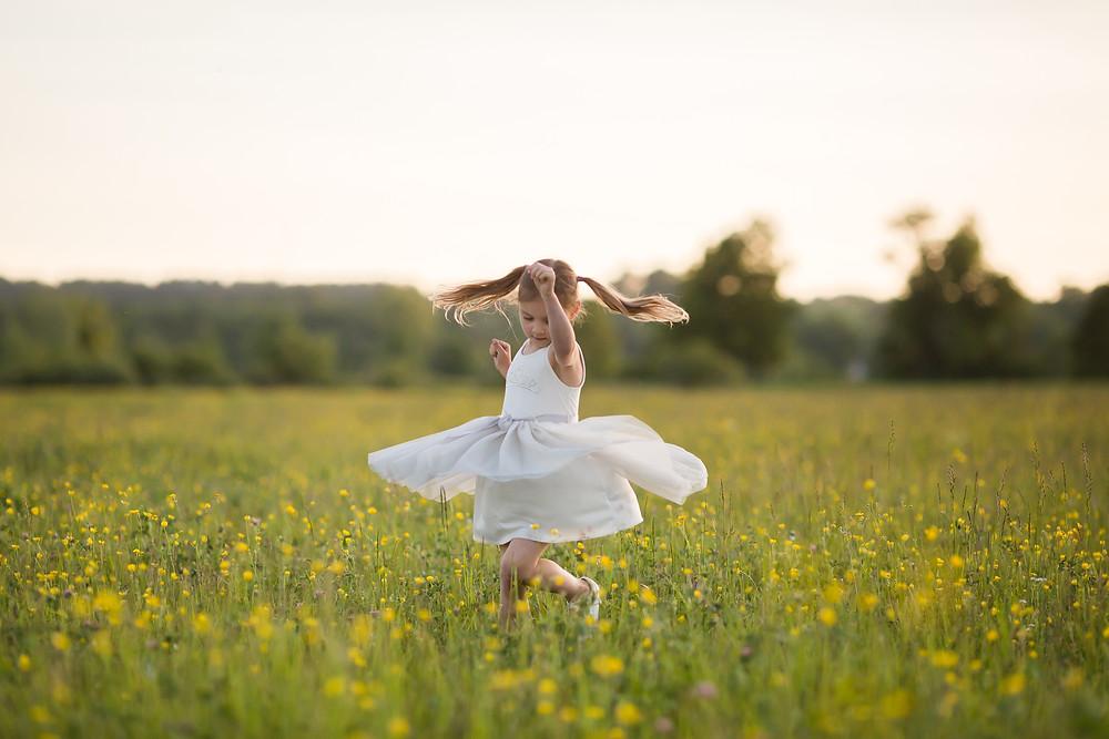twirling girl
