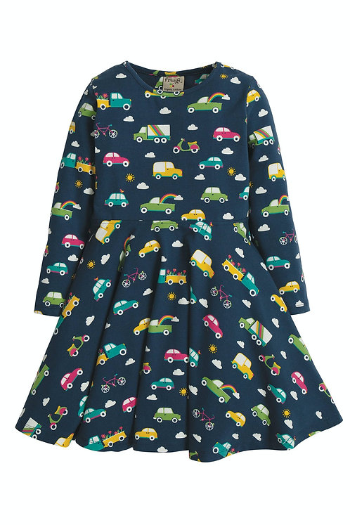 Kleid SOFIA SKATER DRESS RAINBOW ROADS aus Bio-Baumwollmix