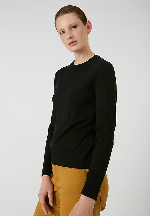 Pullover AALICE - black aus TENCEL-Mix