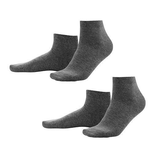 Sneaker-Socken 2er-Pack anthrazit aus Bio-Baumwollmix