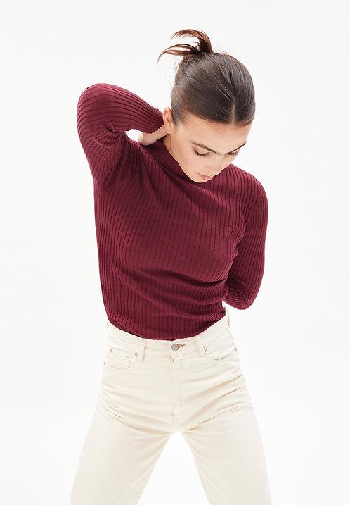 Pullover ALAANI RUBY RED aus reiner Bio-Baumwolle