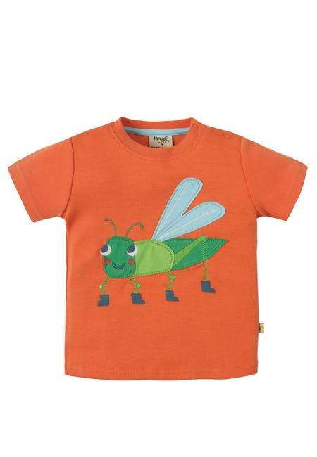 T-Shirt LITTLE CREATUR GRASSHOPPER aus reiner Bio-Baumwolle
