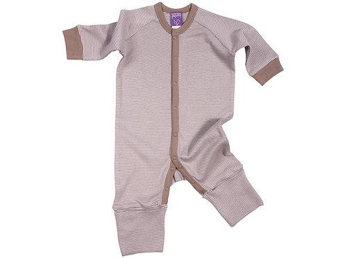 Schlafanzug braun aus reiner Bio-Baumwolle