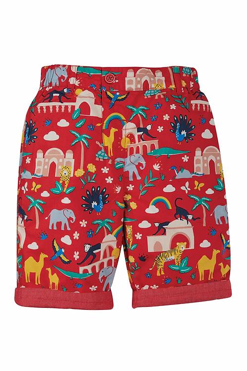 Reversible-Shorts RALPH RED INDIA aus reiner Bio-Baumwolle