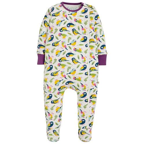 Schlafanzug ZIPPED BABYGROW TWEET aus reiner Bio-Baumwolle