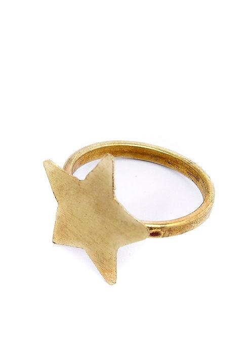 Ring STAR aus Messing