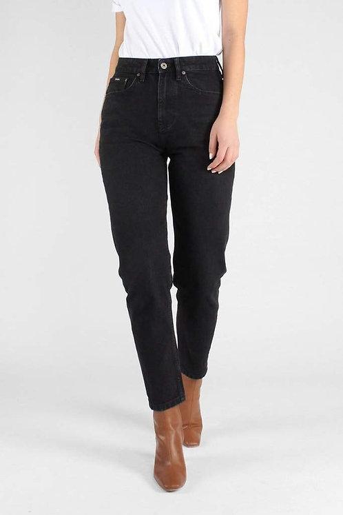 Jeans NORA LOOSE TAPERED VINTAGE BLACK aus Bio-Denim
