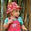 Thumbnail: Reversible-Sonnenhut DEXTER RED INDIA aus reiner Bio-Baumwolle