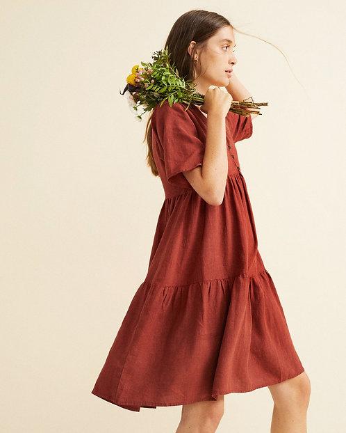Kleid FRESIA HEMP TEJA aus Hanf und Bio-Baumwolle