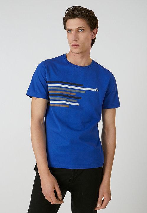 T-Shirt JAAMES bike lines aus reiner Bio-Baumwolle