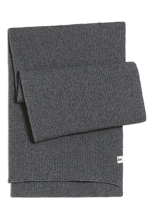 Schal FREDAA mid grey melange aus Wolle und Bio-Baumwolle