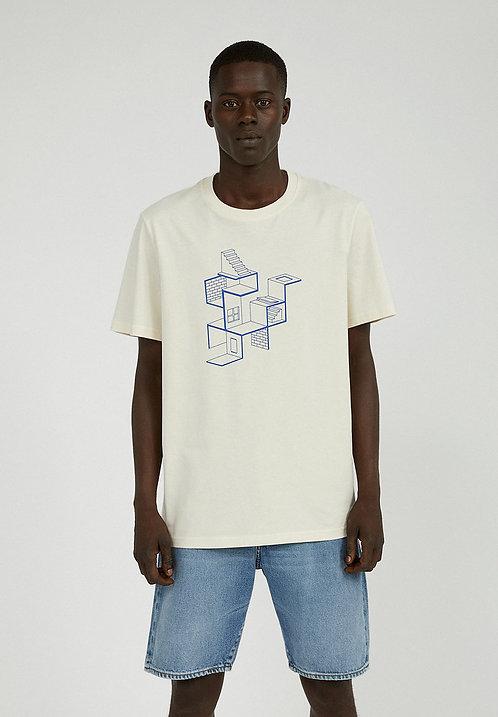 T-Shirt AADO LABYRINTH UNDYED aus reiner Bio-Baumwolle