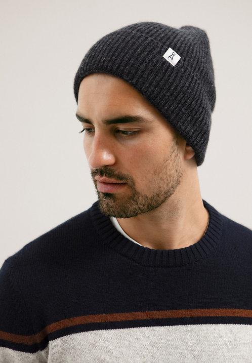 Haube MAAX DARK GREY MELANGE aus Wolle und Bio-Baumwolle